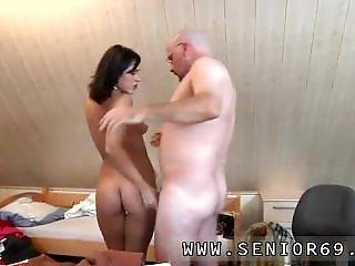 Very Old Grandpa And Old Man Fuck A Pretty Teen And Old Mom Young Girl