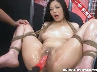 Japanese Teen In Ropes Gets Her Pussy Pounded With Rampant Rabbit