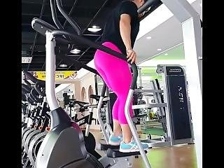 Korean Fbb Nice Curvy Legs In Pink Legging
