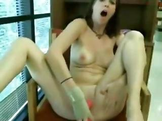 A Teen Totally Nude At Library