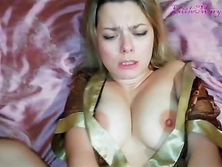 Son Fucked And Cumshot On His Busty Milf