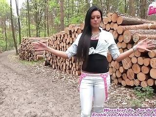 Ungesch�tzter Quicky Im Wald Mit Deutscher Tattoo Teen Schlampe