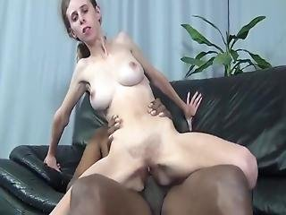Hairy Teen With Big Boobs Loves Her First Bbc On Couch