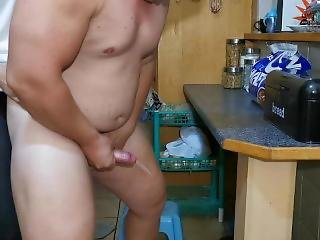 Pegging Him To Prostate Orgasm In The Kitchen!