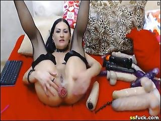 Deep Hard Double Anal Toying Makes My Ass Prolapse