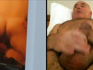 Man Masturbates Watching Unaware Couple Fucking