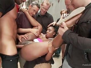 Black Cunt Gets Degraded, Humiliated, Used And Abused In A Public Alley