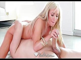 Puremature - Milf Hillary Scott Sucks And Fucks An Oiled Up Dick