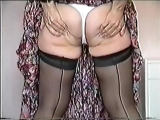 Vintage German Granny Betty Using Dildos And Rubbing Herself.