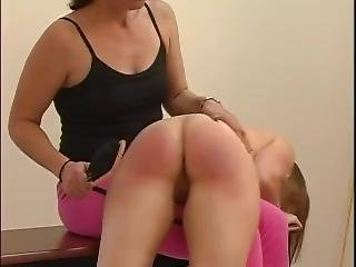 Mischa Is Spanking Naked In Front Of The Other Girls For Pulling Pranks