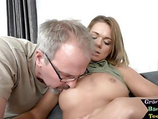 Young Beauty Pussyfucked By Senior