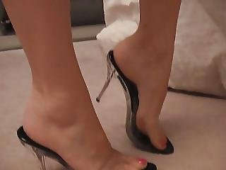 Clear Cum Filled Heels