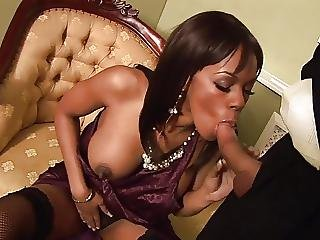 Ebony Godexx Watches As A Huge Penis Sinks Down Her Vulva
