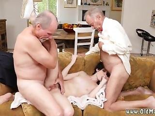Old Guy Young Girl And Dirty Old Sluts And Old Young Anal Gangbang And
