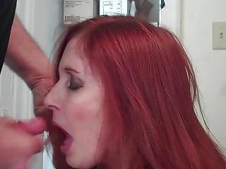 Blowjob And Cumshot (redhot Redhead Show)
