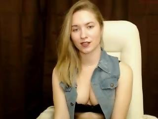 Lovelyvicky - Ukrainian So Cute And Beautiful Girl Masturbating On Webcam