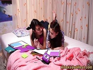 amatoriale, pelosa, lesbica, adolescente lesbica, Adolescente