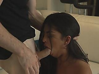 Passionate Latina Getting Her Tight Cunt Robbed By Dick