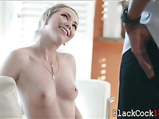 Perky Tits Teen Angel Smalls Interracial Sex On The Couch