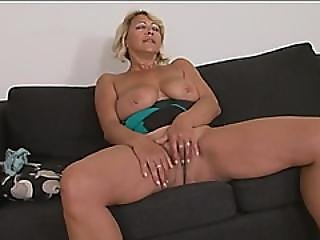 Busty Blonde Gilf Doggy Style Long Black Cock