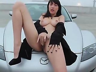 Teen Flashing Big Tits And Masturbating In Public
