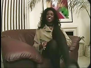 Cute Black Girl Takes A Big Cumshot