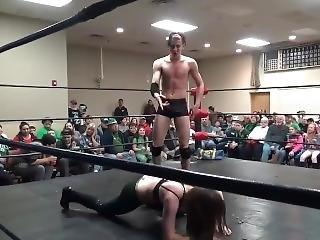 Gutsy Female Scores Surprise Win Over Effeminate Male - Mixed Wrestling