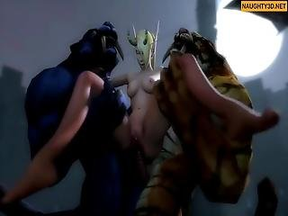 Hentai Hard Monsters Compilation