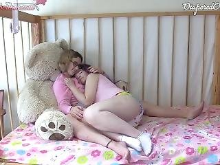 Mommy Helping Stepdaughter Cum In Diaper