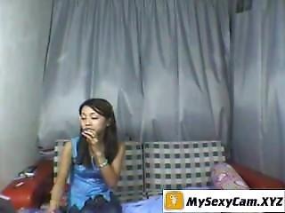 Tatooed Asian Teen Stripping On Webcam - Live @ Www.mysexycam.xyz