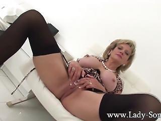 British Milf Lady Sonia Home Alone Masturbation And Tit Play
