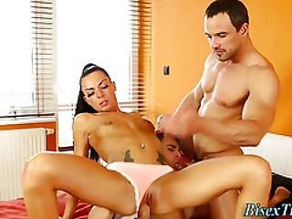 Bisex Dudes Share Pussy
