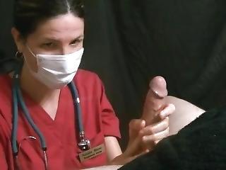 Angry Surgical Masked Lady Nurse Gives Handjob