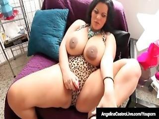 Curvy Bbw Angelina Castro Sucks On Cum Filled Big Cock Pov