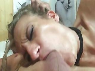 Skinny Teen Brutally And Forcefully Face Fucked By Daddy