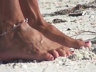 Mature Feet Beach 4