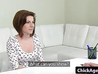Ginger Casting Amateur Straponfucked By Agent
