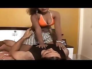 Hot Bedroom Scene With Hot Babe In Bra.mp4
