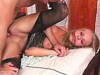 Proper Blonde Whore Likes Hard Penetration