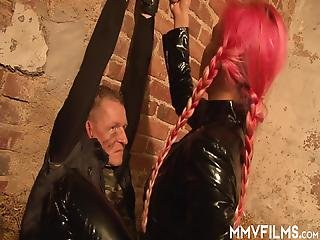 Busty Femdom Mia Is Making Prisoners For Pussy Pleasure