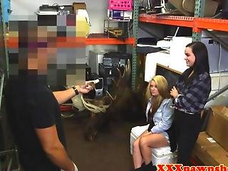 Pawnshop Sluts Sharing A Cock For Cash