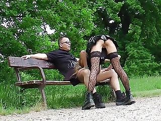 Flashing, Goth, Outdoor, Pierced, Public