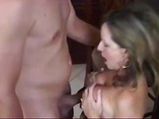 素人, フェラチオ, クリーム, クリームパイ, 陰茎, セクシーなママ, ママ
