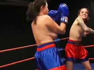 P Vs C Topless Boxing