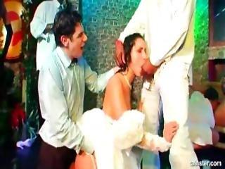 Horny Babes Dances And Fucks At A Bride Bang Party