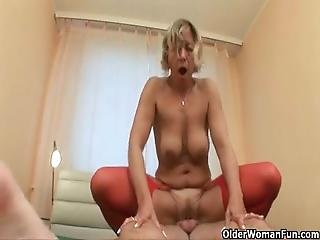 Grandma's Cunt Gets Fucked By Her Vibrator Boy