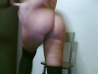 Cam Whore Rides A Toy On Chair