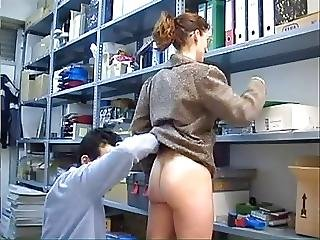 Mature Secretary Anal Work