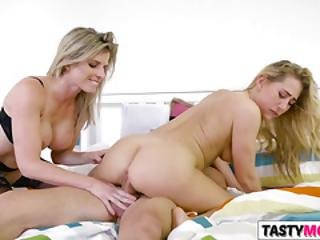 Nerd Bangs Mother Cory Chase And Gf Carter Cruise