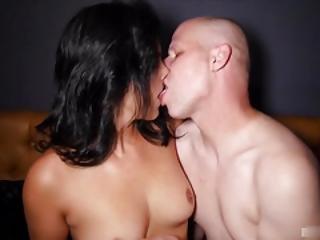 amateur, unglaublich, anal, brünette, paar, ins gesicht, geil, unterwäsche, sex